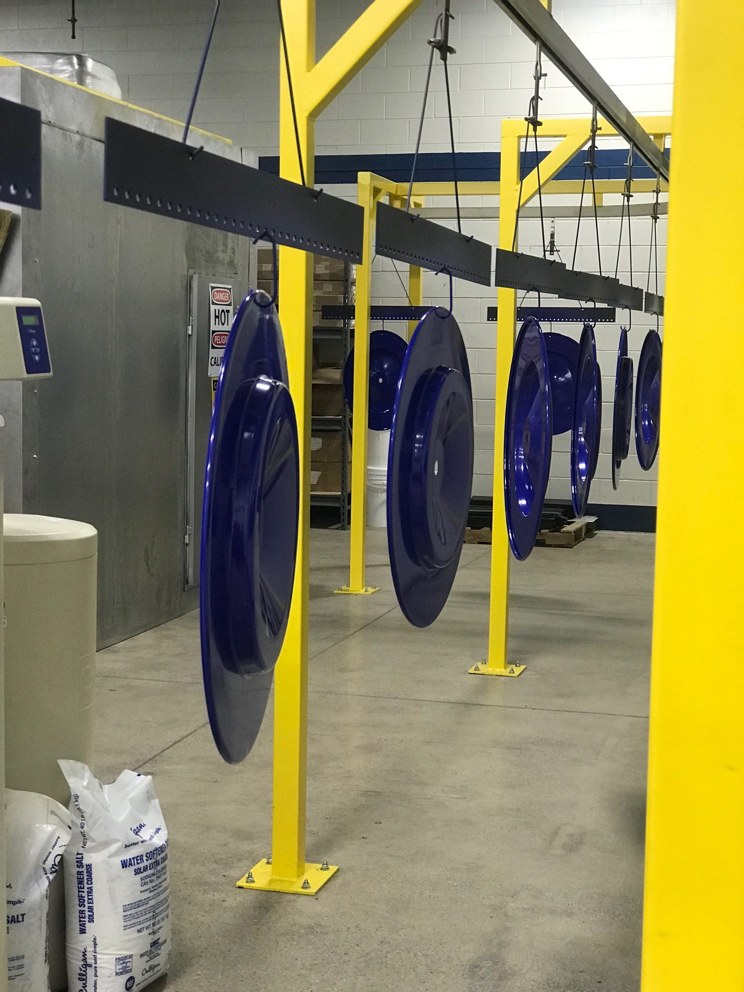 Powder coating - Blue rims