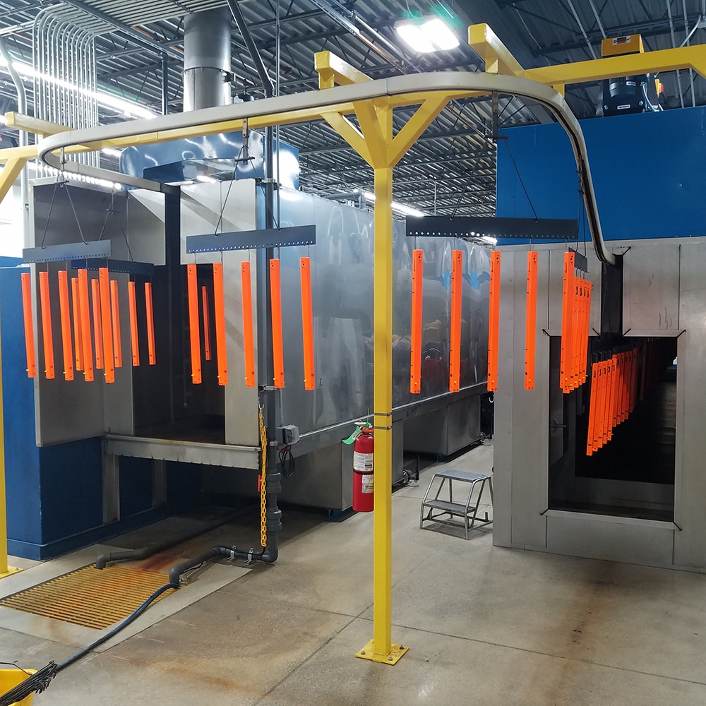 Automated powder coat painting